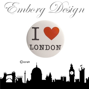 I Love London Badge - HVID