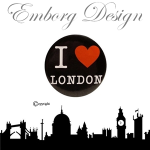 I Love London Badge - SORT