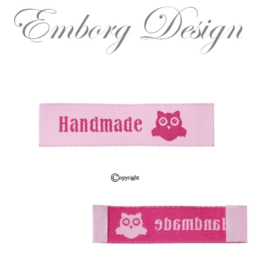 71020b5284e Tøjmærker - Labels til tøj - Made by me mærker - Stofmærker ...
