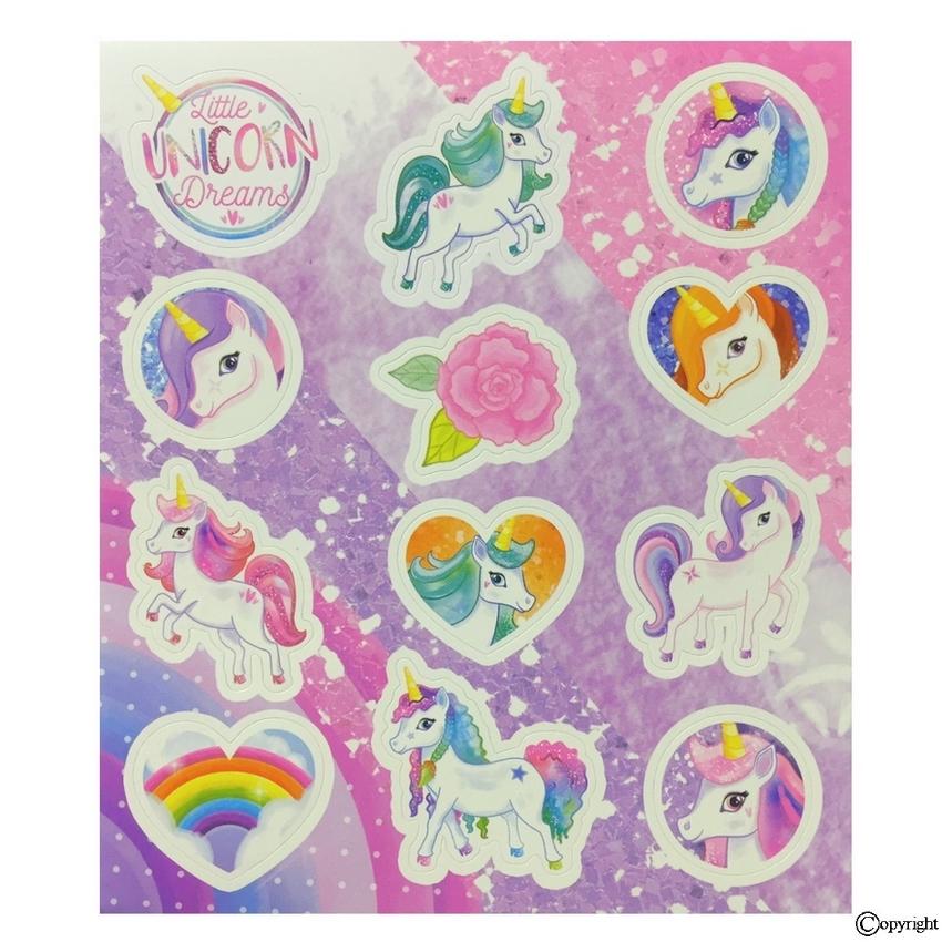 Enhjørninge Klistermærker Stickers Med Unicorns Kalendergaver