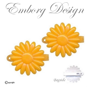 2 stk Yndige Blomster Clips - ORANGE